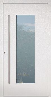 Weiße Haustür mit großem Lichtausschnitt