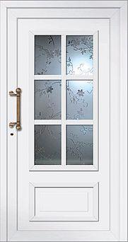 Haustür mit Kasettenfenster