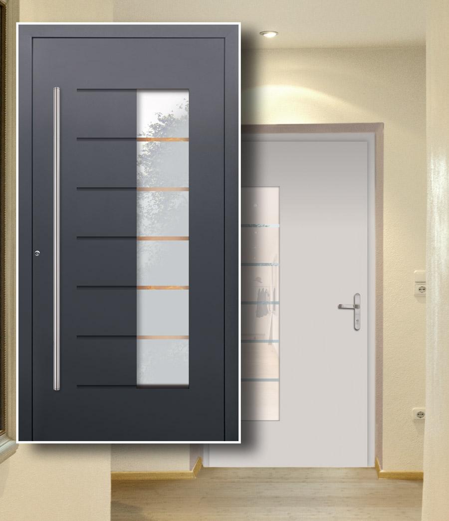 Haustür innen Weiß und außen in Wunschfarbe bestellen