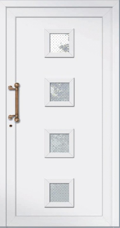 Klassische Haustür aus Aluminium Modell Langeoog