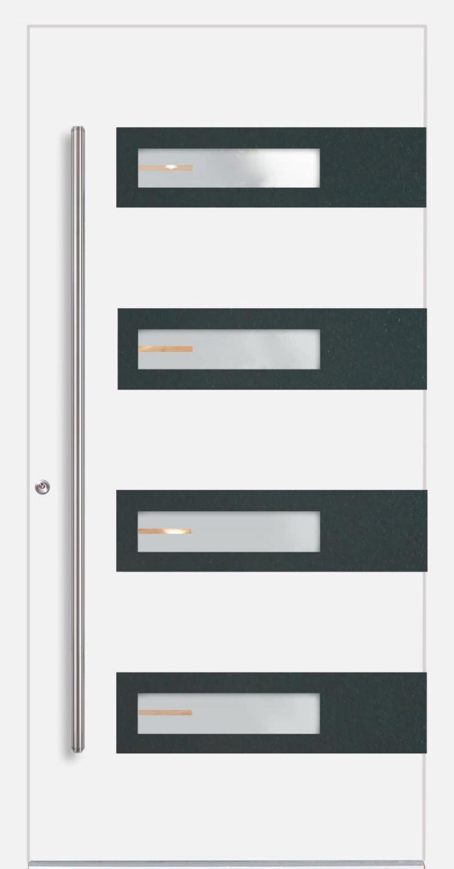 Aluminium Haustür Berlin, Applikation Farbe RAL 7016