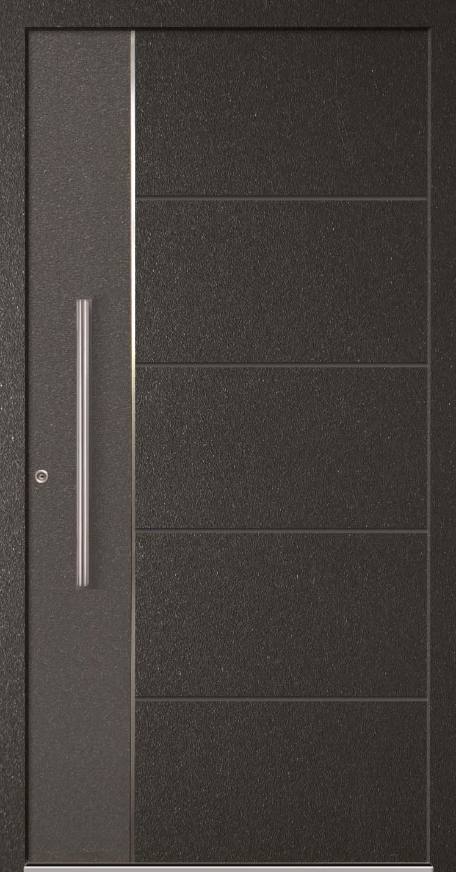 Aluminium-Haustür Modell Paroma mit Applikation