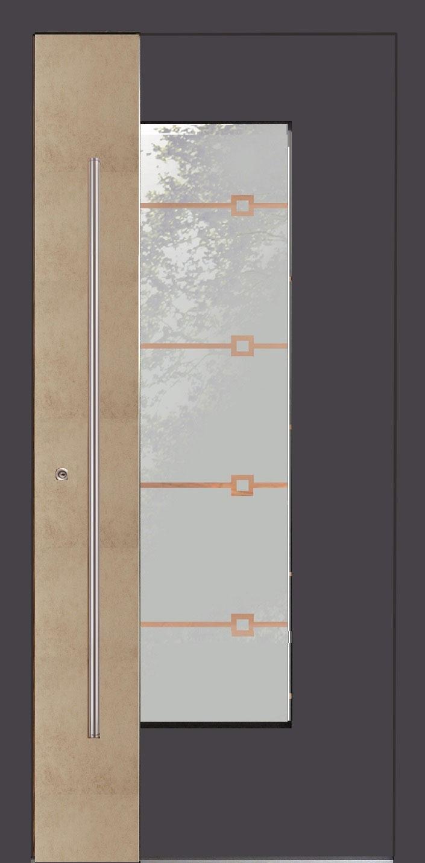 Aluminium Haustür Modern Modell MAILAND