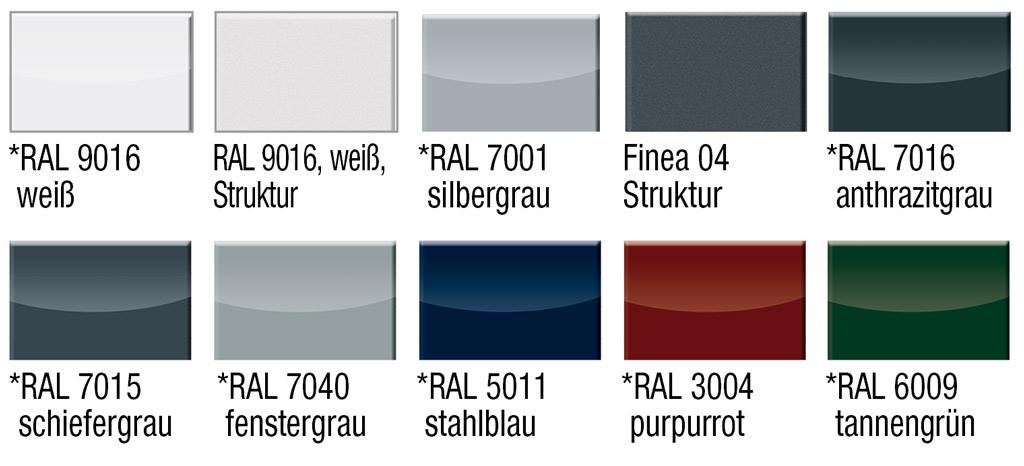 10 Farben für die Terrassenüberdachung Pergola