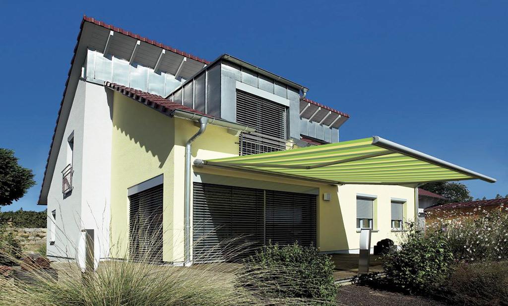Gelenkarm-Markisen Sonnenschutz am Haus