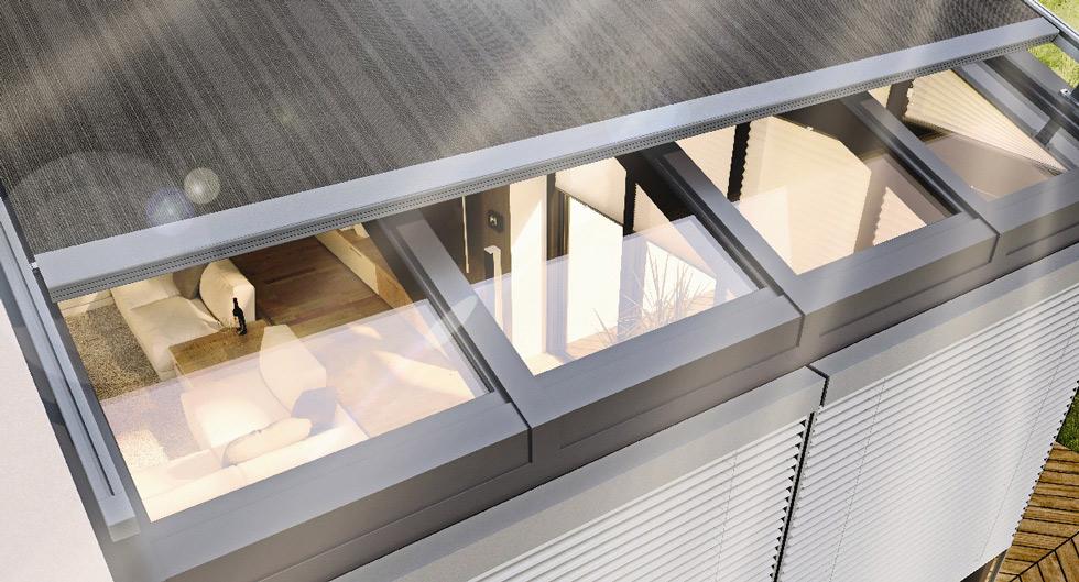 Überglas-Markise für den Wintergarten optimaler Sonnen- und Wärmeschutz