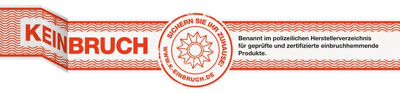 Wir sind gelisteter Hersteller im polizeilichen Herstellerverzeichnis für geprüfte und zertifizierte einbruchhemmende Produkte